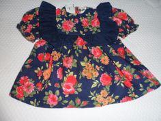 Puppenkleid-Puppenkleidung-handgenaeht-Gr-40-45-cm-gebluemt