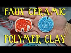 How To Make Easy Faux Ceramic Polymer Clay Pendants - YouTube