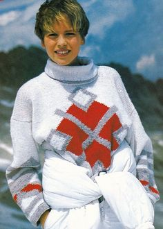 Vintage Knitting Pattern Original Instructions for Ladies Chunky Jumper/Sweater