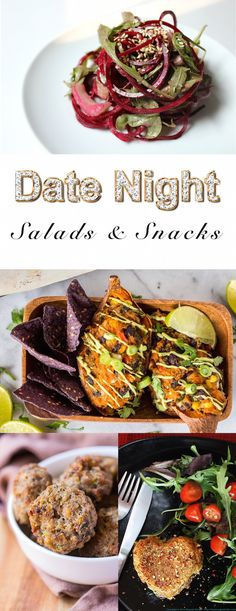 Date Night Recipe Roundup - Vegan Snacks and Salads. In total 45 amazing recipes that inspire you for a date night dinner that will blow your sweetheart away. This one with: @thebigmansworld @RebeccaGF666 @happy_foodista @kiipfit @veganlovlie