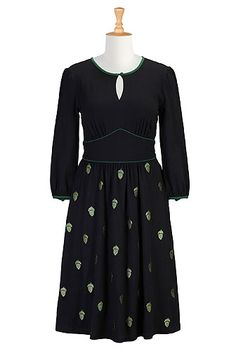 I <3 this Acorns cotton knit dress from eShakti