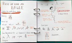 Karin's Yoganotes: Getting fluent in yoga sketching and planning classes visually — Eva-Lotta Lamm Yoga Stick Figures, Yoga Flow Sequence, Look At The Book, Eagle Pose, Learn To Sketch, Yoga Lessons, Yoga Teacher Training Course, Iyengar Yoga, Yoga For Kids