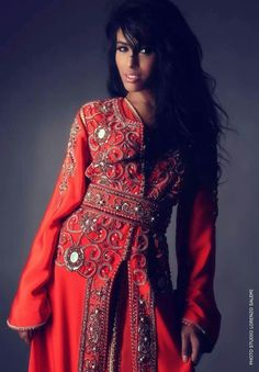 love this exotic kaftkan... except i would cut it maybe in the front to make a shorter dress
