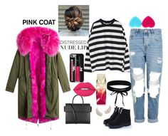 """""""love on my body cold day"""" by megi-queen ❤ liked on Polyvore featuring Topshop, Givenchy, Boohoo, Christian Louboutin and NYX"""