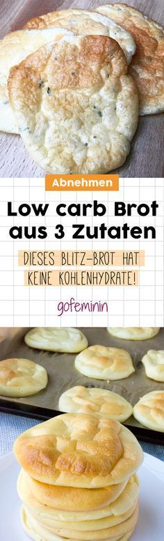 Cloud Bread - Bread without carbohydrates: THE brilliant trend for .-Cloud Bread – Brot ohne Kohlenhydrate: DER geniale Trend für alle Low-Carb-Fans Low carb bread made from three ingredients: THIS Cloud Bread has NO carbohydrates! Low Carb Diets, Cloud Bread, Healthy Dessert Recipes, Low Carb Recipes, Bread Recipes, Healthy Menu, Brunch Recipes, Diet Recipes, Desserts