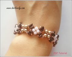 Hey, I found this really awesome Etsy listing at https://www.etsy.com/listing/262888385/beaded-bracelet-pdf-pattern-rose-bronze