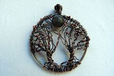 Serenity New Moon  Trees of Life Silver & Copper by SkyAndBeyond, $45.00