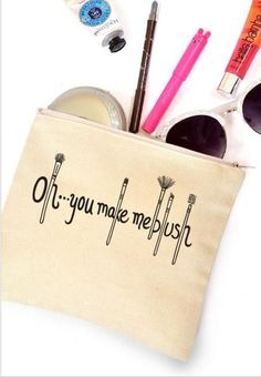 Oh...You Make Me Blush Zipper Pouch