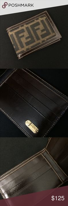 1a29f29e373c0e Fendi Wallet This Fendi wallet has little to no damage outside and in.  Please help me find this one a new home Fendi Bags Wallets