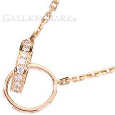 カルティエ ネックレス ベビーラブネックレス ダイヤモンド 0.22ct K18PGピンクゴールド Cartier ペンダント ジュエリー