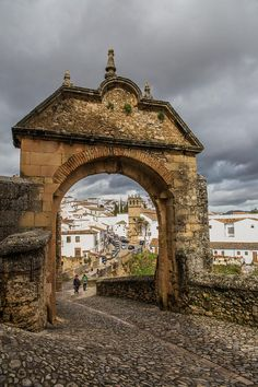 The Gate (Arch) of Phillip the 5th in Ronda, Andalusia.