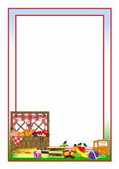 Picnic A4 page borders (SB6095) - SparkleBox