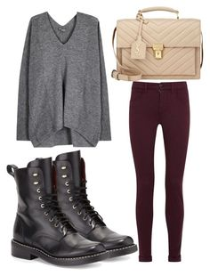 """Untitled #2323"" by fiirework ❤ liked on Polyvore featuring J Brand, Vince, rag & bone and Yves Saint Laurent"