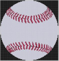 Baseball 2 Cross Stitch Pattern by MotherBeeDesigns on Etsy