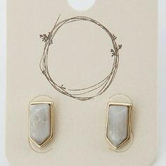 """Geo Stone Earrings Details  * Geo Stone Earrings  * 0.5"""" approx Jewelry Earrings"""