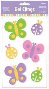 easter window stikers | Amscan-Spring-Easter-Gel-Window-Clings-6-Pc-Butterflies-and-Lady-Bugs ...