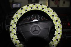 Lime Green and Black Moroccan Cover Wheel . by SouthernAplus