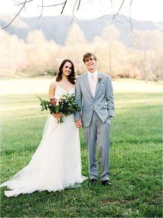 Modern destination wedding in the Smoky Mountains.   Smoky Mountain Wedding Style Shoot by Noi Tran Photography | Bride Link