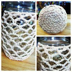 Treasures Made From Yarn: Crochet Covered Ball Mason Jars