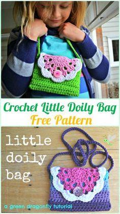 Crochet Little Doily Bag Free Pattern - Crochet Kids Bags Free Patterns