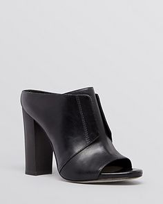 Pour La Victoire Open Toe Slide Mule Sandals - Eva High Heel | Bloomingdale's