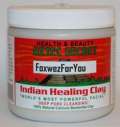 Aztec Secret Indian Healing Clay Deep Pore Cleansing Beauty Facial Mask - 1 LB for sale online Calcium Bentonite Clay, Corn Snacks, Indian Healing Clay, Pore Cleansing, Clean Pores, Facial Masks, Aztec, The Secret, Deep