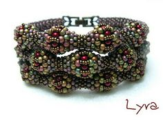 Beautiful piece!  I'd like to see the back.  I don't see any Delicas? bracelet beads - delica miyuki