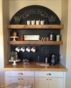 Luxury Coffee Bar In Kitchen