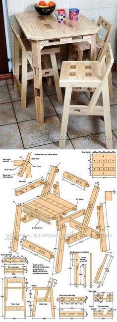 Kitchen Chair Plans -  Furniture Plans and Projects   WoodArchivist.com