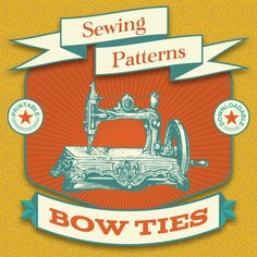 Make your own adjustable bow ties in seven shapes with these printable bow tie sewing patterns from shop.Lavaguy.com!