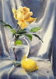 Watercolor Painting by: -●- © GALINA GOMZINA -●-  Russian Artist.