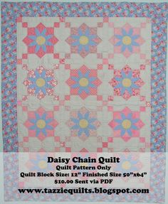 Alexa, I want you to make me this Daisy Chain Quilt :) | Sewing ... : daisy chain quilt pattern - Adamdwight.com