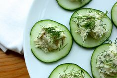 Cucumber Rounds with Raw Herbed Dill Cashew Cheese