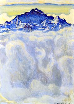 The maiden of the mist over the sea, 1908 - Ferdinand Hodler