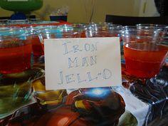 Iron Man Jello - Avengers premier