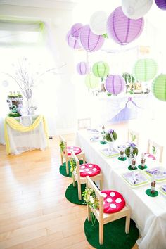 fairy party table dressing inspiration