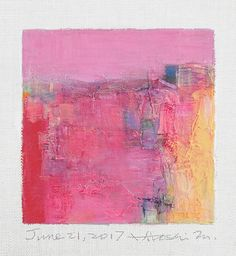 June 2017 9 cm x 9 cm (app. x oil on canvas © 2017 Hiroshi Matsumoto Pink Painting, Oil Painting Abstract, Painting & Drawing, Art For Art Sake, Art Graphique, Art Projects, Art Prints, Decoration, Illustration