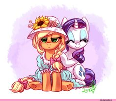 Applejack,Rarity