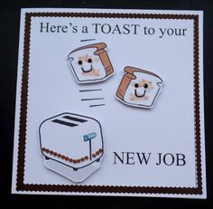 Hand made New Job card