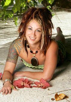 Jessica (de Survivor Cook Islands). La chica del pelo de fuego.