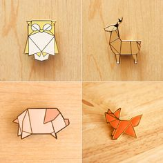 Animal Origami Brooch