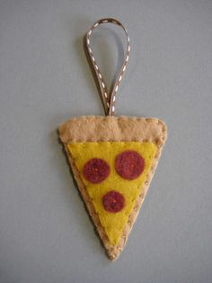 Pizza Ornament by sarahryanstudio on Etsy, $10.00