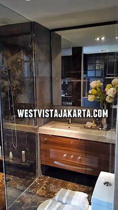 Interior design bathroom West Vista Jakarta Barat apartment. #interiordesignbathroom #westvistajakarta