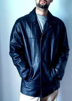 Ben Sherman Mens  Coats & Jackets Leather  Black xxl #BenSherman #BasicCoat