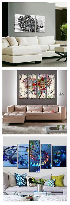 Decorate the walls of your loft with these modern style three piece canvas prints. Would you choose modern or futuristic style? Click on the picture to see these and more.