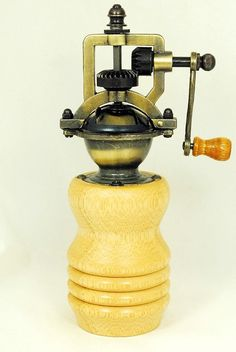 Perfect Gift Wood Pepper Mill Handmade Vintage by ASHWoodshops, $49.00