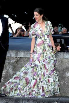 Come see all the beautifully dressed guests from Beatrice Borromeo's royal wedding, including Charlotte Casiraghi
