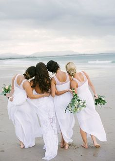 All white destination Australian wedding: Megan + Aaron