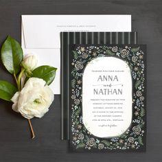 Painted Garden wedding invitations by Lia Griffith | Elli.com