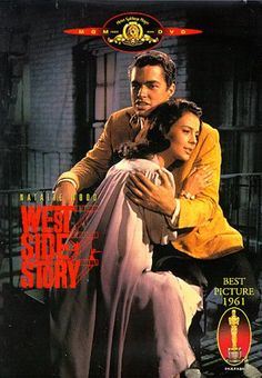 This affecting film of the immortal Broadway musical West Side Story, with lovely Natalie Wood in the lead and fiery Rita Moreno as her friend Anita, beat out the Guns of Navarone, the Hustler, Judgment at Nuremberg and Fanny. West Side Story, Natalie Wood, Beau Film, Film Musical, Film Music Books, See Movie, Film Movie, Movie List, Amor
